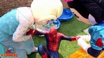 Frozen Elsas POOL SURPRISE! w/ Spiderman Pranks Frozen Elsa Swimming Pool! Funny Superher