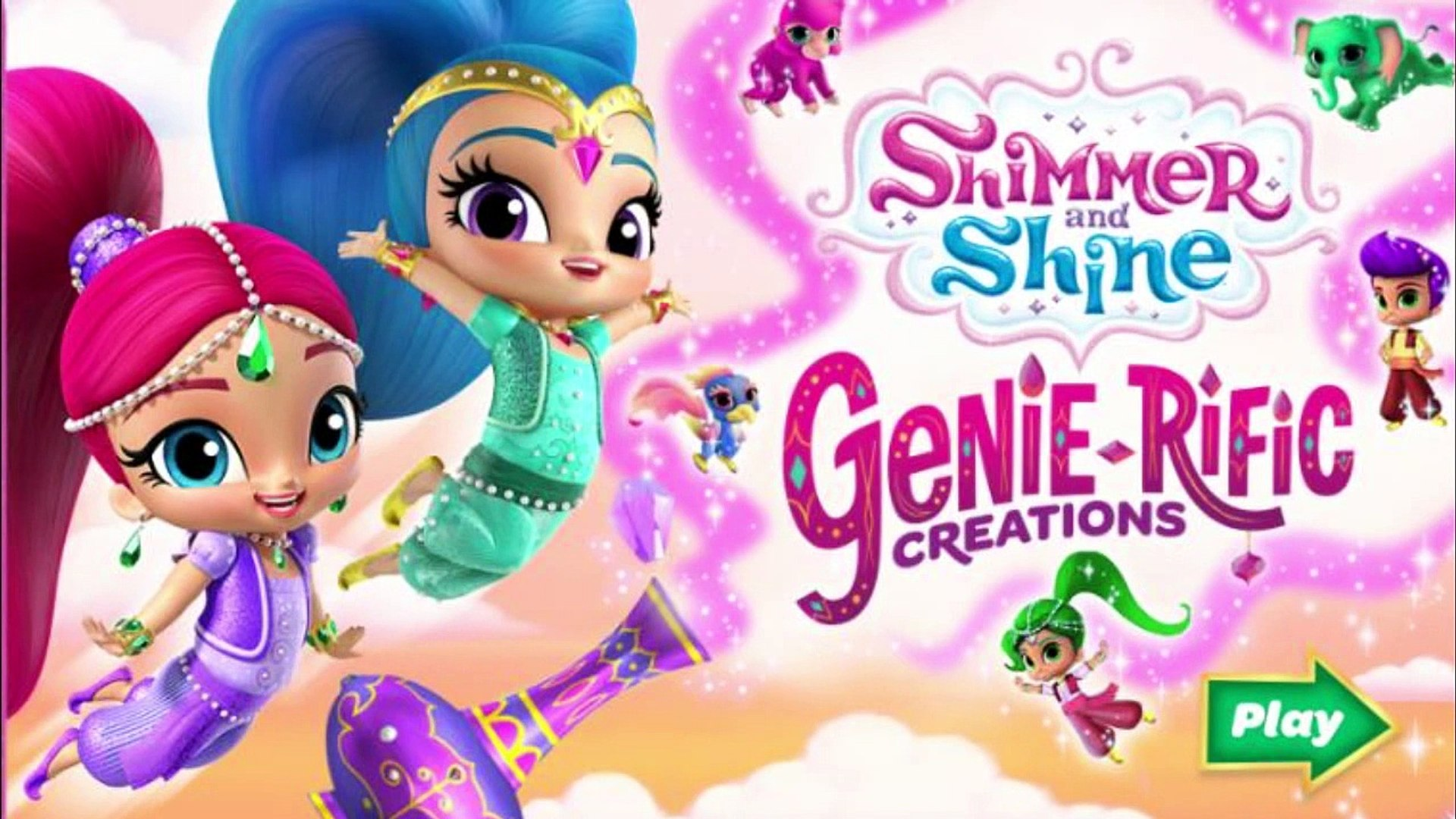 Shimmer And Shine Genie Rific Creations Dress Up Game Nick Jr