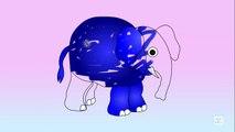 Aprender los Colores, los Colores para los Niños, Aprender los Colores Con el Elefante de dibujos animados de dibujos para Colorear de fo