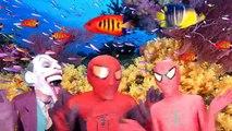 Замороженные Эльза паук против Джокера против Человек-паук супергерой магическое шоу забавный супергерой в реальной жизни