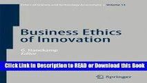 PDF Online Business Ethics of Innovation (Ethics of Science and Technology Assessment) Online PDF