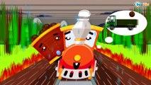 Dibujos Animados Educativos - Trenes Para Niños y Carros de Carreras - Caricaturas de trenes