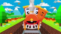 TRAINS CARTOONS Train with his friends adventures | Train cartoon for children