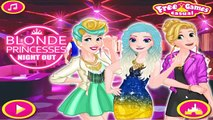 Blonde Princesses Night Out - Frozen Disney princess videos for girls - 4jvideo