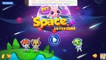 Pet Voyage. Pet Adventure. Game App For Kids. Cartoon. Baby Rabbit traveling by sea.