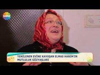 Yenilenen evine kavuşan Elmas Hanım'ın mutluluk gözyaşları