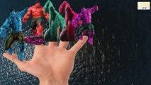 Los Colores De Spiderman Familia Vs Colores Hulk Dedo De La Familia De Los Niños Canciones Infantiles De La Colección De Fo