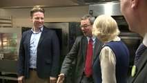 Camilla gets a baking lesson from Jamie Oliver