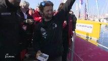 Vendée Globe : La Mie Câline célèbre son skipper