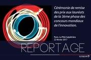 Reportage à la cérémonie de remise de prix aux lauréats de la 3e phase des concours mondiaux de l'innovation