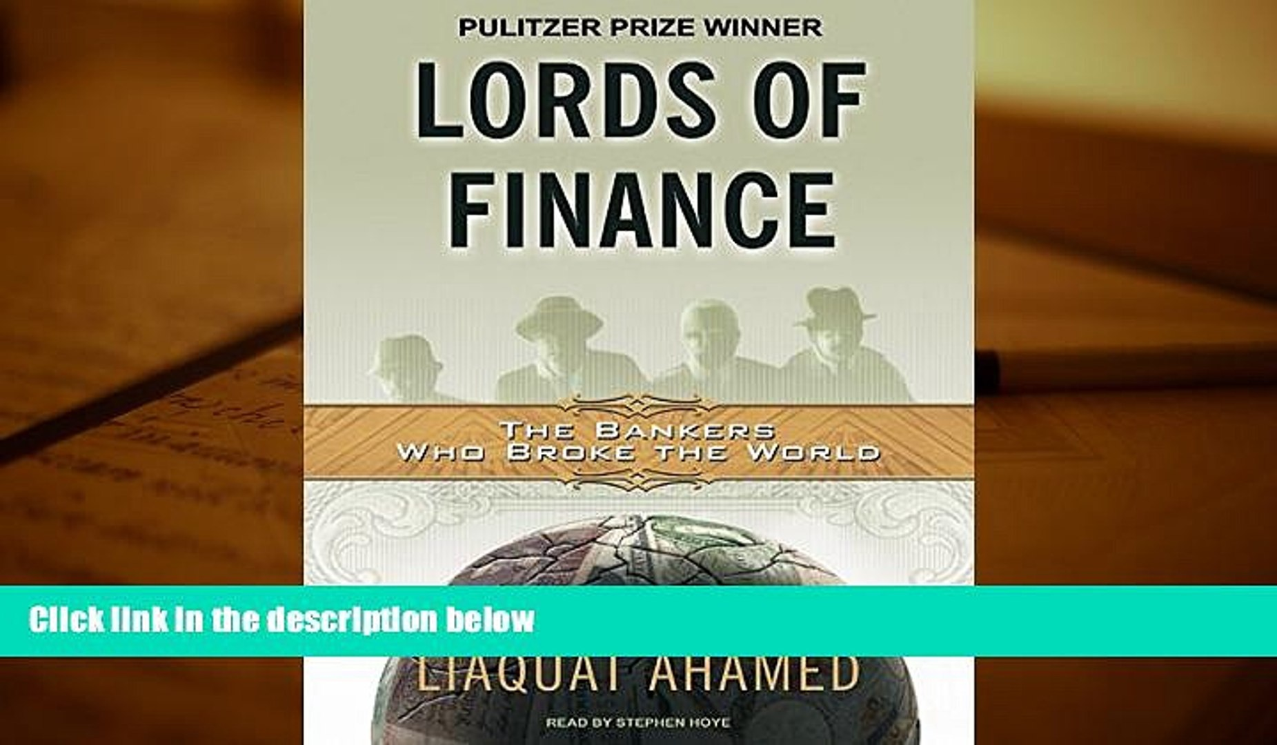 Popular Book  Lords of Finance: The Bankers Who Broke the World [MP3 AUDIO] [UNABRIDGED] (MP3 CD)
