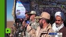 Images impressionnantes du test de missiles iraniens