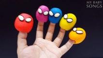Dedo De La Familia De Spiderman Con Plastilina Para Niños | Colores De Spiderman Rimas Infantiles De La Colección