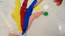 Colores de pintura de Dedo Aprender los Colores de la Familia de la parte SUPERIOR del Dedo canciones infantiles Canciones de Compilación