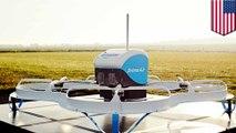 Drone Amazon mengirim paket dengan parasut kecil - Tomonews