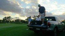 Extreme golf trick shots from the site of the Honda Classic Golf is hard. (Round 3)