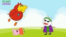 #Peppa Pig #Ironman #Spiderman vs #Veneno #Joker #Dedo de la Familia #Rima de cuarto de niños