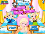 Disney Congelado Juego De Elsa Al Bebé Que Está Mamando Gemelos – La Mejor Princesa De Disney Juegos De Cuidados Del Bebé Por Gi