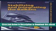 Read Online Stabilizing and Integrating the Balkans: Economic Analysis of the Stability Pact, EU