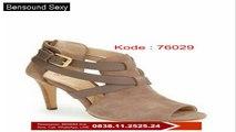 Sepatu Wedges Hak Tinggi, Sepatu Wedges Hitam Murah, Sepatu Wedges Hak 5 Cm, 0838.11.2525.24