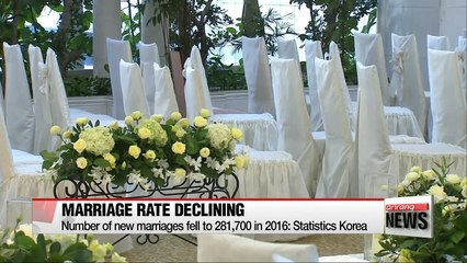 Number of newlyweds hit record low in 2016