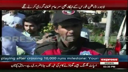 Dolphin Force personnel quarrels with a citizen in Lahore