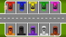 Los colores para que los Niños Aprendan con los Vehículos de Calle de los Colores y los Números de Vídeos de la Colección
