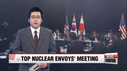 Top nuclear envoys from Seoul, Washington, Tokyo meet on Monday to discuss N. Korea's recent ballistic missile launch, Kim Jong-nam's assassination