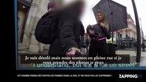 Un pervers prend en photo les fesses d'une femme dans la rue (Vidéo)