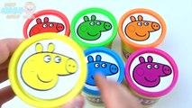 Aprender los Colores PLAY DOH PEPPA PIG en inglés Episodios de Compilación! Dedo De La Familia Nursey Rimas