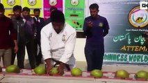 This Man Smashes 45 Coconuts With His Head In 60 Seconds