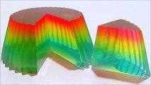 Como hacer una gelatina arcoiris molde cupcake colores suaves postre arcoiris