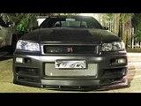 Nissan Skylines STREET RACING! R34 GTR Gets BUSTED!!