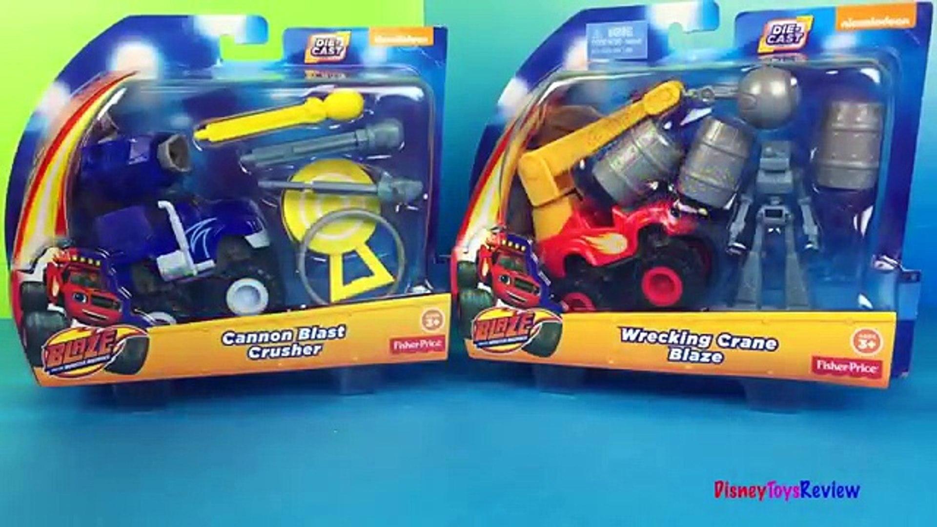 Playdoh Fisher Price Nickelodeon Blaze & the Monster Machines Cannon Blast Crusher Monster truck