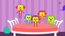 Cinq petits singes - Five Little Monkeys
