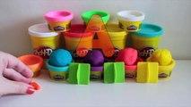 Play-Doh aprender inglés #6 lección F Ortografía de las palabras con plastilina videos de Aprendizaje para los niños