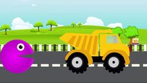 LEARN COLORS, Dump Truck Pacman Cartoon, Kids Learning Videos Colours to Kids Toddlers Baby
