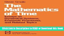 PDF Online The Mathematics of Time: Essays on Dynamical Systems, Economic Processes, and Related