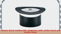 Kraftware Top Hats Black with White 3Quart Top Hat Ice Bucket with Band and Lucite Cover e964aa47