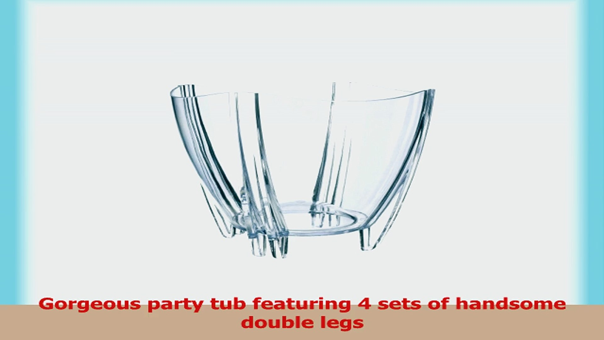 Prodyne Illusions Ice Tub For Parties