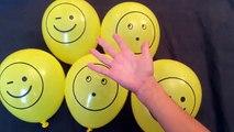 5 Mojado Colores de la Cara Globos de Aprender los colores con globos de agua Dedo de la Familia rimas comp