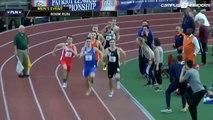 Ce coureur de 800m gagne gagne sa course avec une seule chaussure