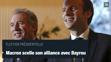 Emmanuel Macron et François Bayrou scellent leur alliance pour l'élection présidentielle