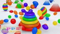 3D del arco iris de la Rosquilla de la Montaña Huevos Sorpresa de la Bola de Aprender los Colores para los Niños pequeños, los Niños y Preschoo