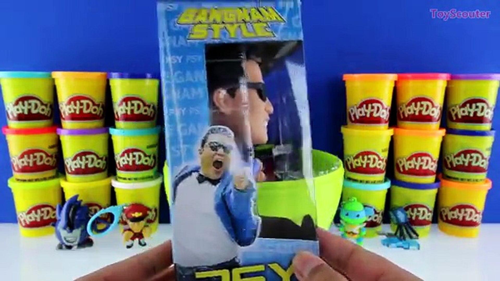 GIANT PSY Surprise Egg Play Doh - Korean Pop Singer Toys Album TMNT Transformers GIANT WIN