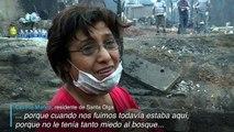 Los voraces incendios forestales de Chile
