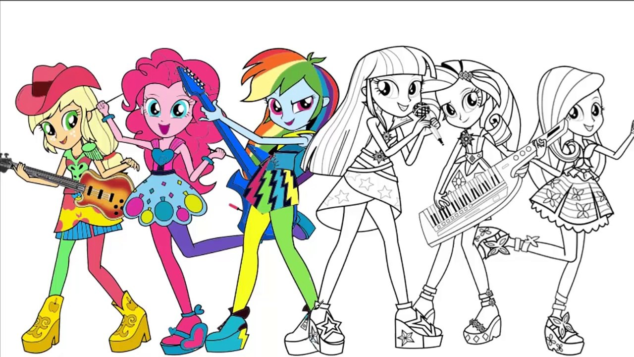 My Little Pony Coloring Book Equestria Girls Rainbow Rocks Part 2 Mlp Coloring Pages F Video Dailymotion