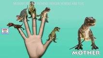 Dedo De La Familia De Locos Dinosaurio De La Familia De Rima De Cuarto De Niños | Funny Dedo De La Familia De Las Canciones Para Niños