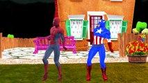 Batman Spiderman Ironman, Hulk Dedo De La Familia No Deje De Canciones De La Colección De Niños De La Guardería Rhy