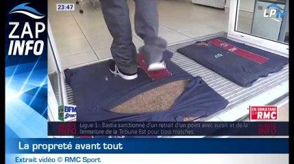 Zap : un paillasson maillot du PSG à la boutique !